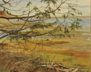 Behind Comox Spit - Oil on Canvas