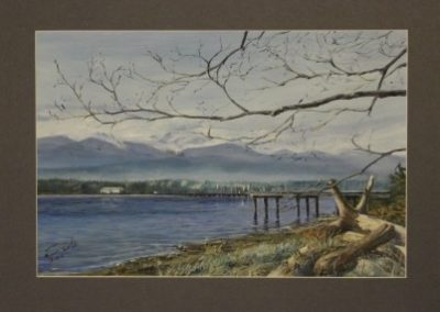 Comox Harbour - End of Winter - Acrylic on Paper Framed