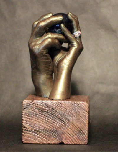 Hands in Hydrostone Cold Cast Bronze & Pigmented Resin