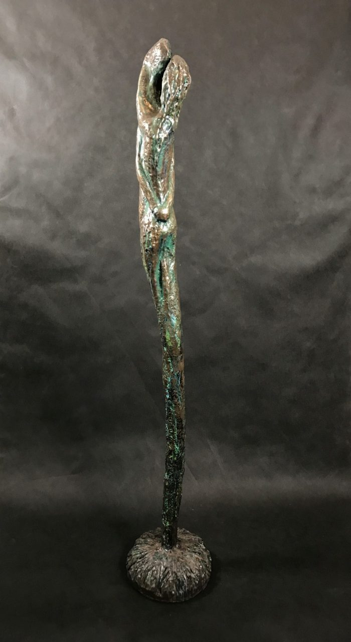 Let it Grow - Hydrostone, Cold Cast Bronze and Pigmented Resin