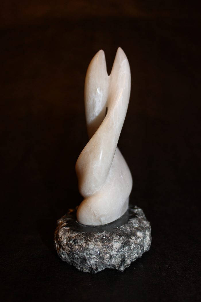A Tear for Claira - Alabaster on Carved Marble Base