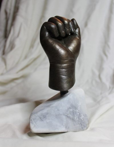Child's Hand - Hydrostone with Cold Cast Bronze on Marble Base
