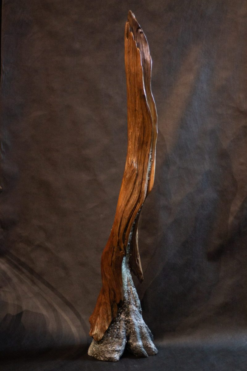 Fertile Ground - Driftwood, Concrete, Hydrostone, Resin & Glass