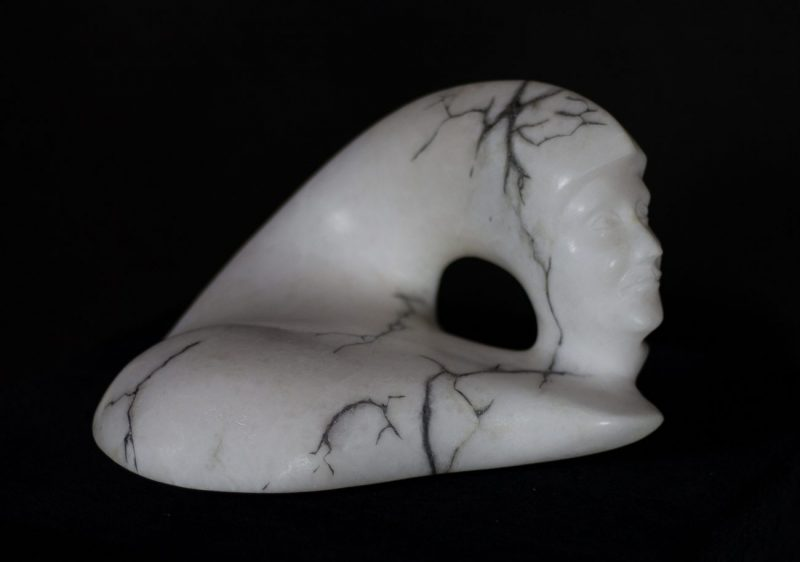 Phoenix - Alabaster with cold cast bronze