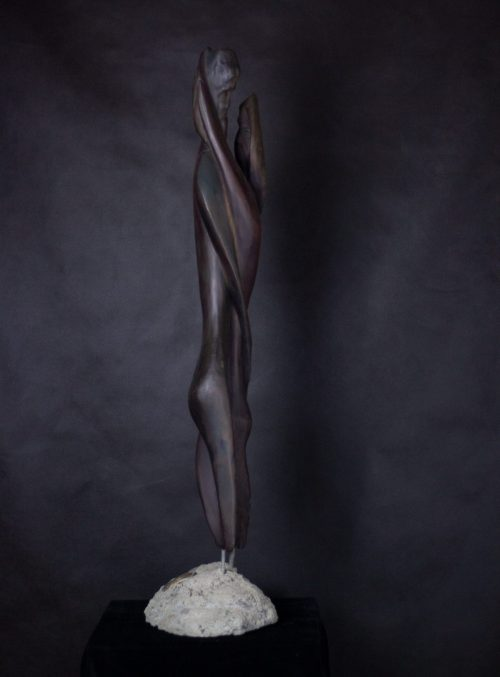 Frozen Moment - Driftwood, Concrete and Steel