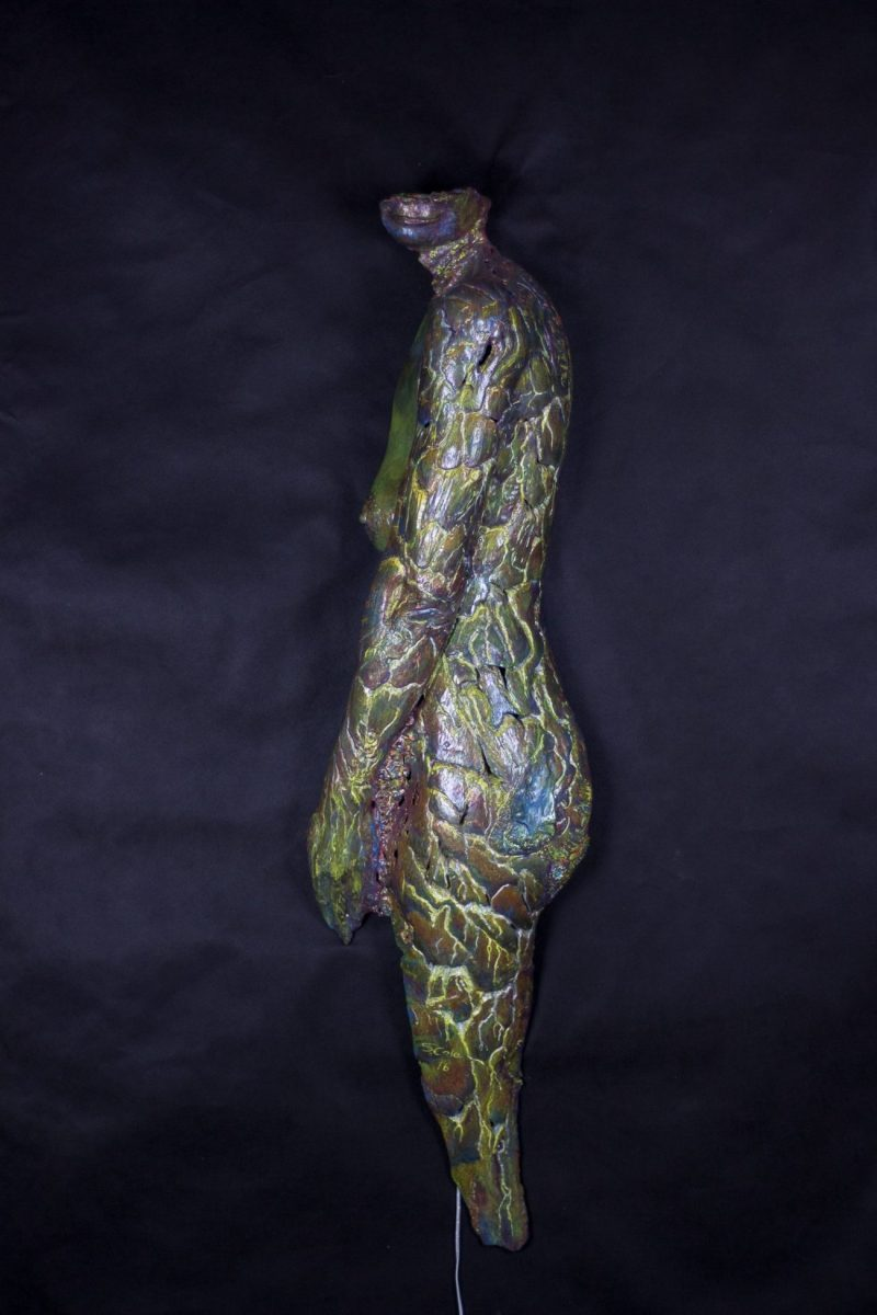 Mermaid#5 - Hydrostone and Pigmented Resin Led Light