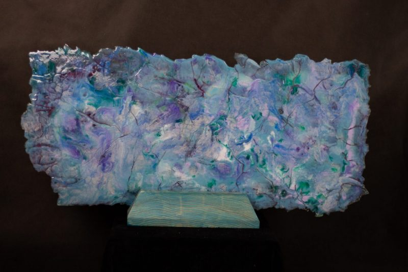 Spring - Pigmented Resin on Wood Stand