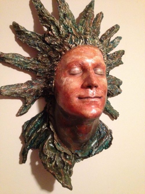 Lucid - Merged Life cast and free formed carved sculpture