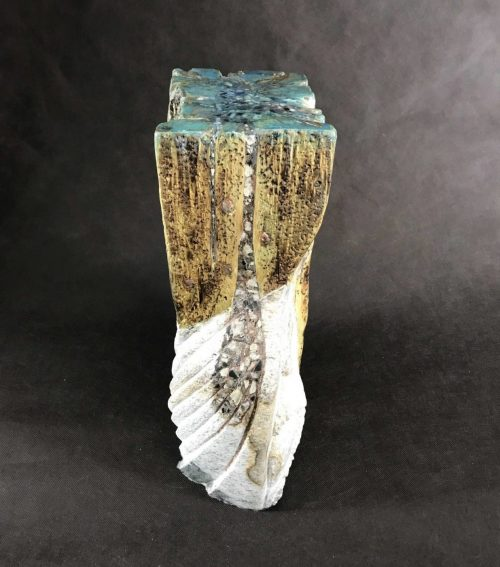 Water for Life - a combination of stone, wood, metal, marble chips, resin and pigments