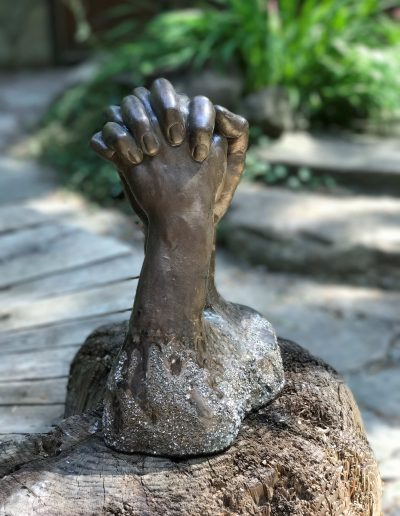 Hydrostone Hand Cast with Cold Cast Bronze and Scree